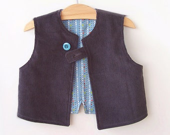 SMART VEST Boy pattern Pdf sewing pattern, Easy Simple, children toddler, Boys size 3 4 5 6 7 8 9 10 years Instant Download