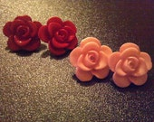 Talia - Bohemian Cut Red Roses in Bloom Unique Hippie Hipster Boho Posts