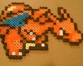 Charizard and Dratini family perler bead sprites RESERVED for BkahG