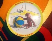 Vtg 60's CURIOUS GEORGE Zak Design Melamine Plate Collectible Mid Century RARE