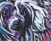 """Chinese Crested art print pop dog art bright colors 13x19"""" LEA"""