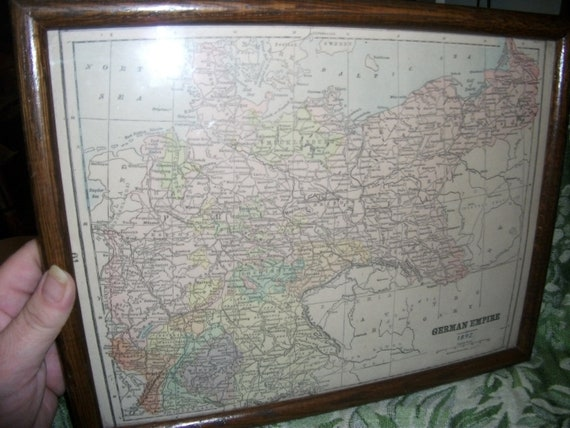 Antique 1892 Mast, Crowell & Kirkpatrick Map of German and Russian Empire RARE Collectible 95 USD
