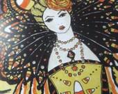 Candy Corn Queen Cards, Halloween, Fall, October