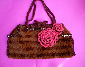cod 373...handmade  crochet embroidered bag  ...pin up style,couponcode SALEFORYOU