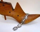 Vintage sterling bracelet with bird motif