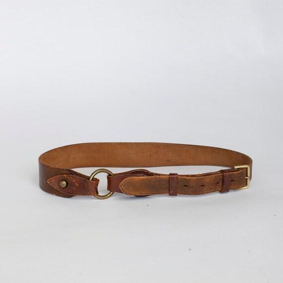whiskey brown equestrian high waist belt