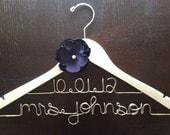 Wedding Dress Hanger, White Hanger Wedding, Mrs. Dress Hanger, Wire Name Hanger, Future Mrs Hanger, Personalized Hanger, Bride Gift