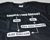 Funny Bacon Shirts Mens Clothing Bacon Flow Chart Shirt Birthday Gift for him boyfriend gifts funny tshirt