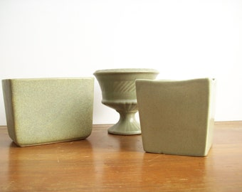 Instant Collection: Matte Green Pottery, Vintage, Mid-Century Modern