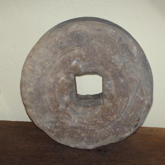 Antique Grinding Stone Wheel