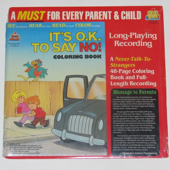Its ok to Say No Full length recording and coloring book 1984 New in package