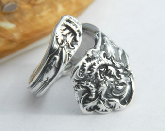 Sterling Silver Spoon Ring, Petite Pinky Spoon Ring, Spoon Jewelry