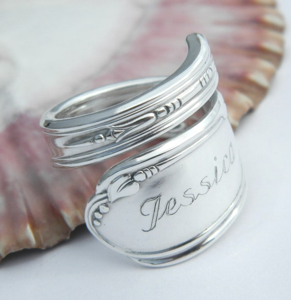 items similar to personalized ring spoon ring