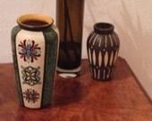 Vintage - Jasba Vase - West German Pottery - Handmade