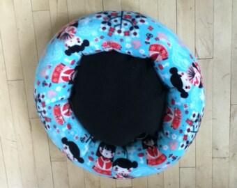 Cherry blossom girl fleece pet bed
