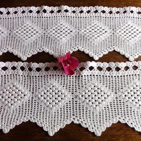 Dutch Crochet Curtains Filet Valance Vintage By Oldamsterdam