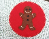 Gingerbread man Holiday Cookie or Candy Tin