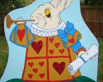 Vintage Original White Rabbit (Alice in Wonderland) Party Prop & Art Decoration