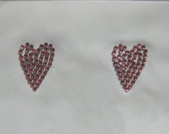 5pc - Small Dark Pink Hearts