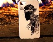 Native American Indian Princess Iphone 4/4s slim hard case