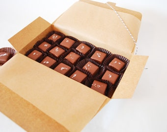 Fleur de Sel Caramels Organic Fair Trade  Box of 18