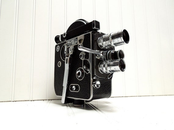 RESERVED for Tomoaki -- Vintage Camera Bolex H16 Supreme C Mount 16mm Film Camera
