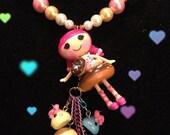 Reserved reserved LilMsMuffet Lalaloopsy donut sprinkles harajuku kawaii deco den decoden sparkle beaded necklace