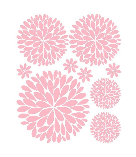 Items similar to Flower Wall Decals Another Bunch of