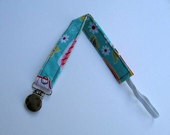 Gender Neutral Universal Pacificer Clip / Boy/Girl Pacifier Clip /  Blue & Red Paci Clip