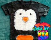 Penguin Tie Dye T shirt for kids
