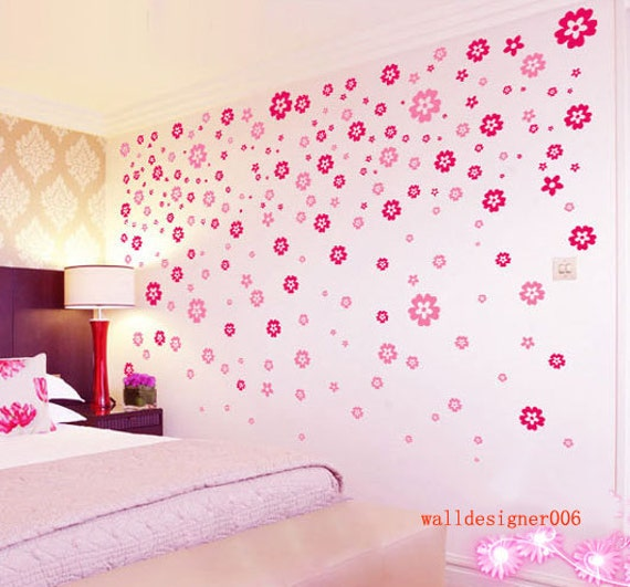 Wall Decor Flowers pink wall decorations | my web value