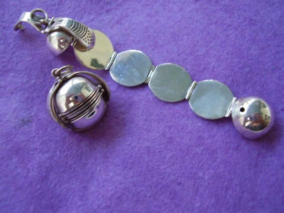 Sterling Silver  Ball Locket for Multiple Pictures