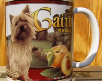 Cairn Terrier Crate Label Coffee Mug