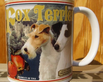 Fox Terrier Crate Label Coffee Mug