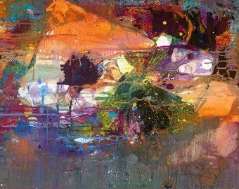 "Viva Las Vegas Fine Art Giclee by Tracey Chikos 11"" x 14"""