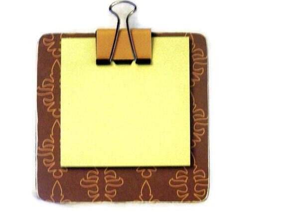 sticky note holder  mini-clip board,  magnetic memo holder