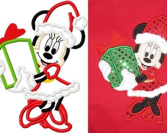 Christmas embroidery applique mice santa lot of 2 santa embroidery designs instant download