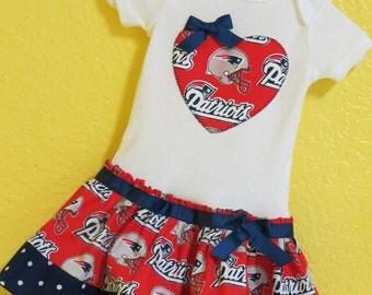 New England Patriots inspired cheerleader dress
