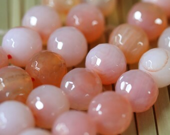 Natural Carnelian 12mm Faceted Round Beads Strand, 16-Inch Strand G01168