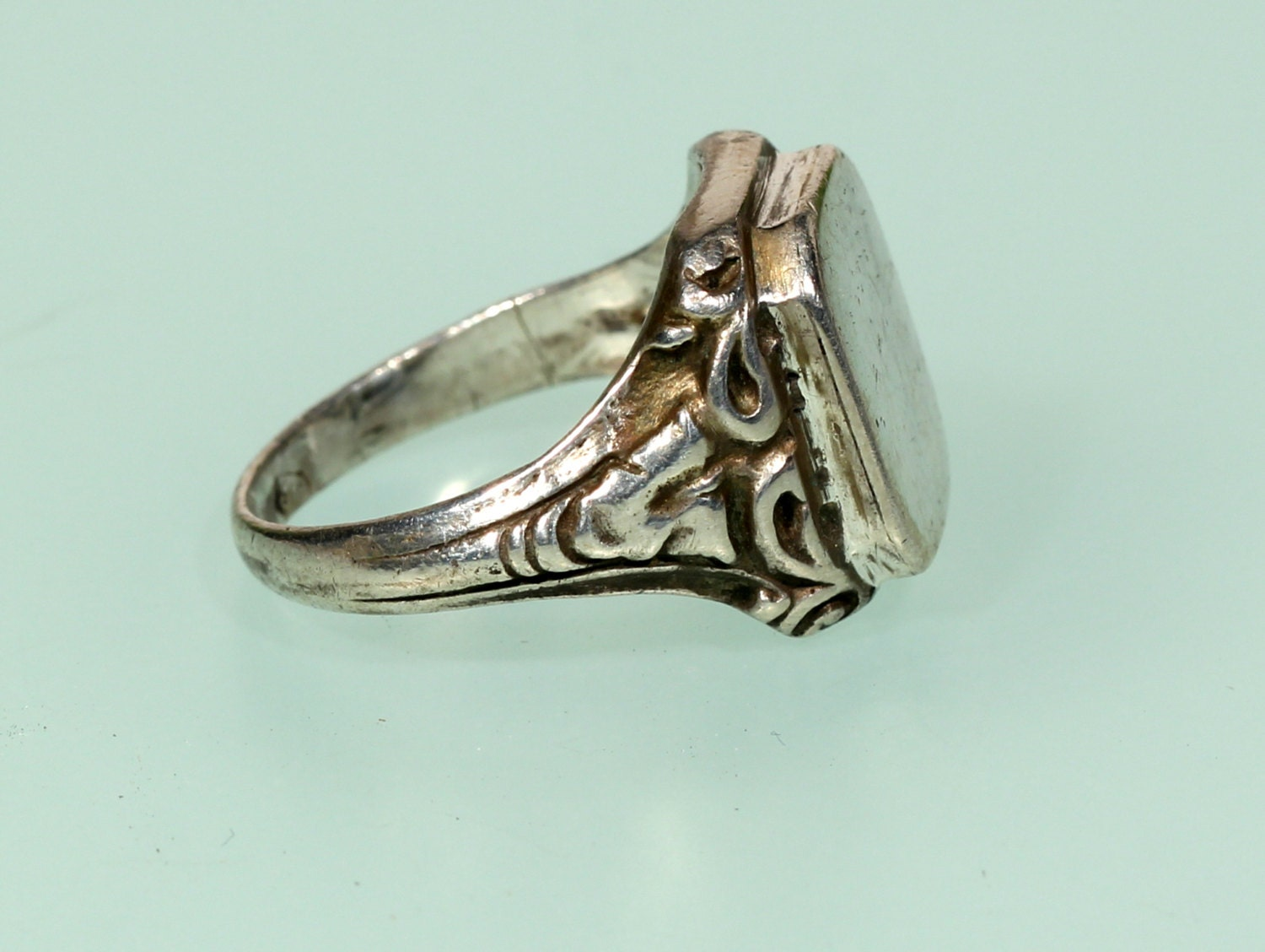 antique sterling signet mens ring for the by