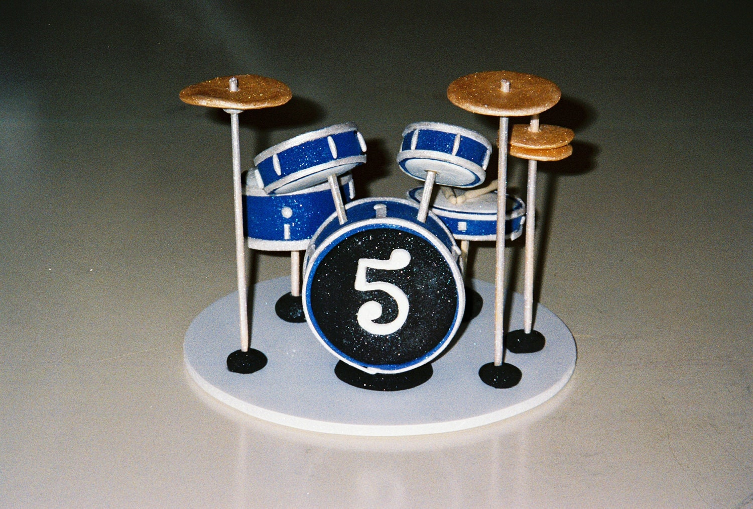 Custom Cake Topper Drum Set Great for a by LadyBugCakeToppers