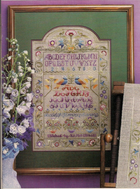Cross stitch patterns sampler magazine vintage