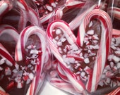 12 Dark Mint Chocolate Peppermint Bark Candy Cane Hearts