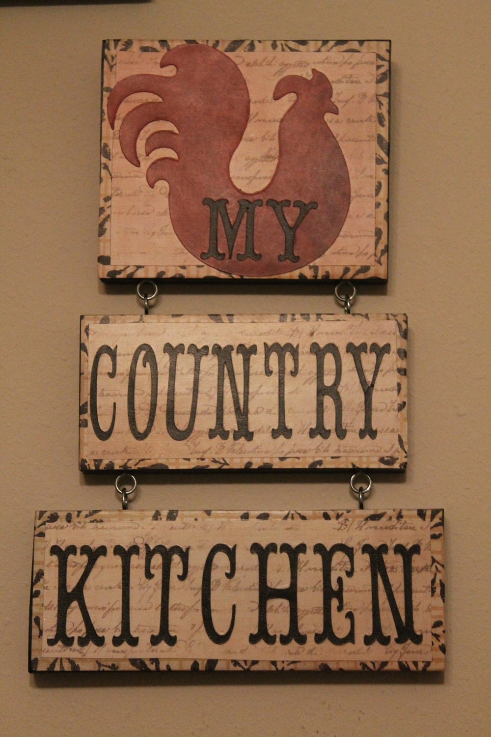 Rooster decor country kitchen sign kitchen decor home for I sign decoration