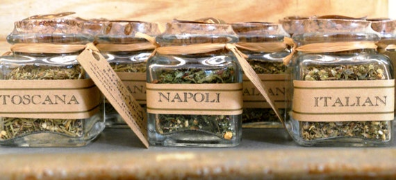 Italian Wedding Gifts: Wedding And Party Favors Italian Spices, Seasoning Blends