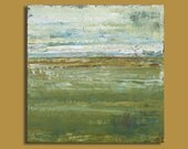 Abstract Landscape Painting - Telegraph (12x12) Original Acrylic Painting