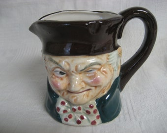 Occupied Japan Toby Style Pitcher Creamer Vintage 1950s