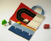 Car roll holder and little play mat for kids, travel toy, on the go. Ready to ship