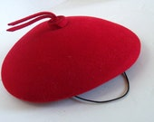 Vintage Hat Red Felt Beret George Bollman Doeskin Wool Child's Hat