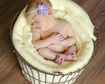 Cheesecloth and Headband Set...Photography Prop...Newborn Prop...Baby Girl Headband...Baby Bows...Cheesecloth Wrap